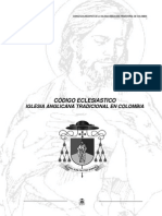 Codigo Eclesiastico de La Iglesia Anglicana Tradicional en Colombia