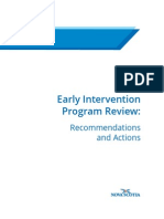 Nova Scotia Early Intervention Review