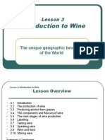 Lesson 3 - Introduction to Wine