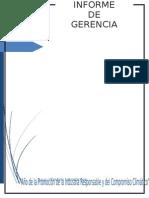 Informe de Gerencia Grupo Maria