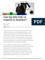 Big Data and Disasters