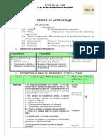 Sesion Aprendizaje Con Actividad Polinomios-2013