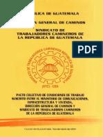 Pacto Colectivo de Condiciones de Trabajo de la Dirección General de Caminos 2011