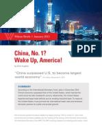 China, No. 1? Wake Up, America!