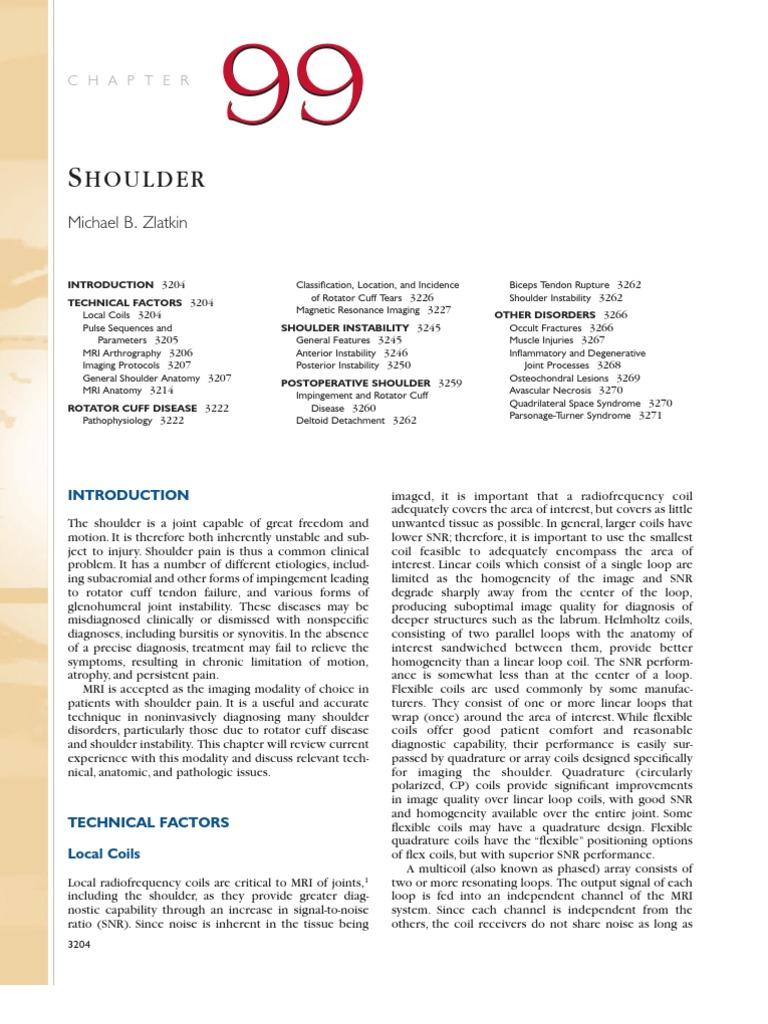 Shoulder MRI | Shoulder | Medical Imaging