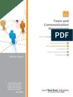 Team Comm White Paper