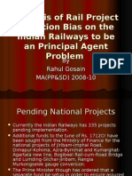 Analysis of Rail Project Selection Bias on The