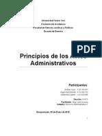 Principios de Los Actos Administrativos
