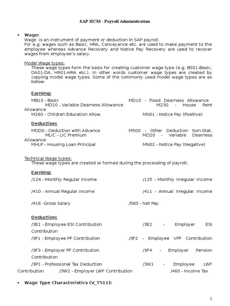 Sap hcm study material payroll payroll tax deduction sciox Choice Image