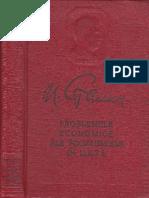Stalin-Problemele economice ale URSS