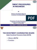 Investment Procedure in Indonesia