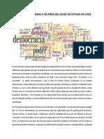 Miradas y Reflexiones a 40 Años Del Golpe de Estado en Chile