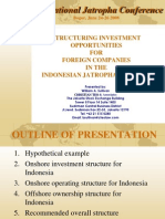 Structuring Investment Opportunity for Foreign Companies in The Indonesia Jatropha Industry
