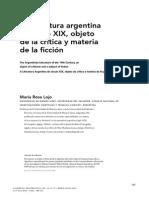 Rojo-La Literatura Argentina Del Siglo XIX