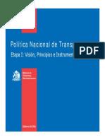 Politica Nacional de Transporte - MTT - Ppt