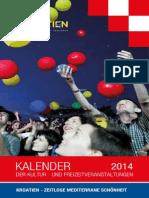 Kalenderder Der Kultur Und Freizeitveranstaltungen 2014