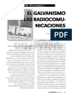 El Galvanismo y Las Radiocomunicaciones