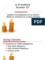 Statements of Auditing Standards Number 59