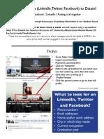 Social Media to Datatel