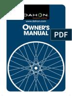 Dahon Owner s Manual - EnG
