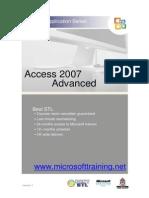 Access 2007 Advanced Best STL Training Manual