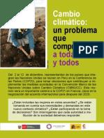 Encarte - Cambio Climático un problema que compromete a todas y todos.