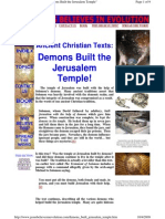 Ancient Christian Texts = Demons Built the Jerusalem Temple