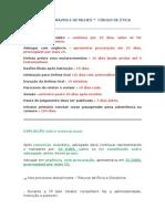 Prazos e Detalhes - Ética Profissional Da Oab (Revisão)