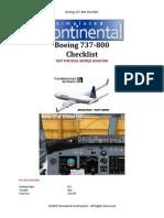 Boeing 737 800 Checklist
