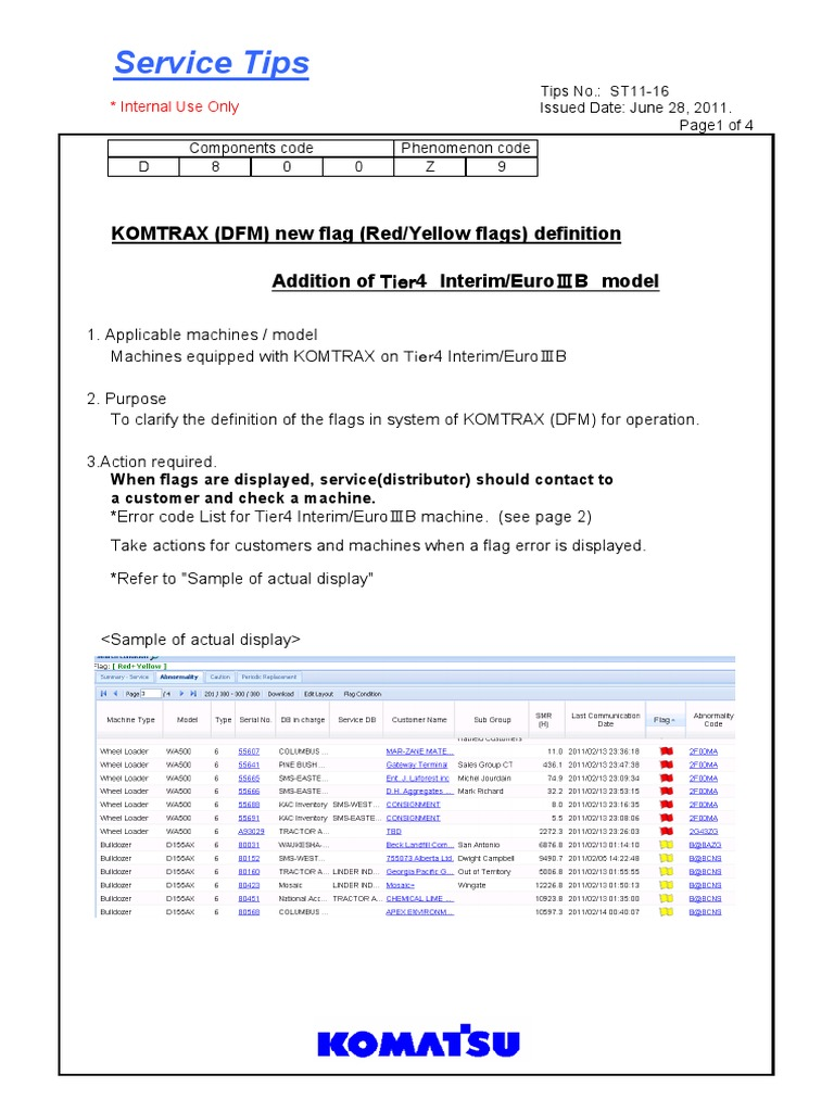 ST11-16 Additional Error Codes   Clutch   Relay