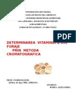 Determinarea Vitaminei E Din Furaje