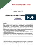 Federalization in Spain