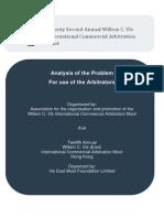 22nd Vis Moot Arbitrator's Brief