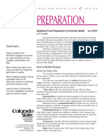 (Nutrition) Updating Food Preparation to Promote Health