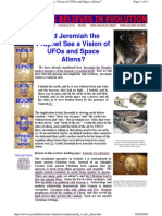Did Jeremiah the Prophet See a Vision of UFOs and Space Aliens