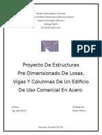 Pre Dimensionado de Losas, Vigas Y Columnas de Un Edificio de Uso Comercial en Acero