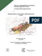 Microzonificacion Sismica Preliminar Tunja