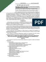 Modificación a La NOM-014-SSA2-1994, Para La Prevención, Detección, Diagnóstico, Tratamiento, Control y Vigilancia Epidemiológica Del Cáncer Cérvico Uterino