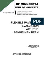 Flexible Pavement Evaluation With the Benkelman Beam