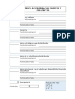 Formato Perfil Priorizacion Clientes y Plan Visitas