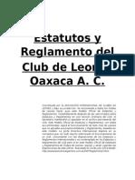 Estatutos y Reglamentos Del Club de Leones de Oaxaca A