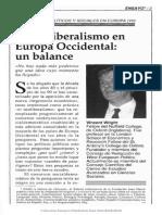 Neoliberalismo en Europa