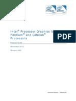 Pentium Celeron Graphics Guide