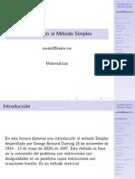 Tc3001 03 Intro Simplex