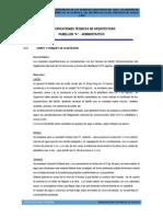 1.0 Especificaciones Arquitectura