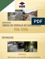 Obras de Drenaje en Carreteras