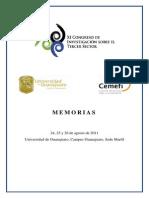 XI Congreso de Investigacion sobre el Tercer Sector