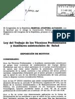 Ley original del Técnico Asistencial presentado por CONTAP