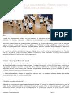 Aplicación de La Educación Física Dentro y Fuera de La Escuela