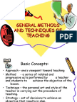 General Methods and Techniques of Teaching